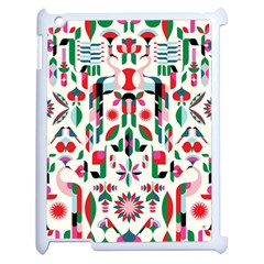 Abstract Peacock Apple iPad 2 Case (White)
