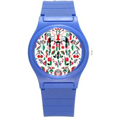 Abstract Peacock Round Plastic Sport Watch (s)