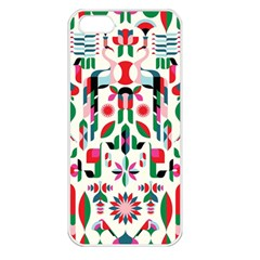 Abstract Peacock Apple iPhone 5 Seamless Case (White)
