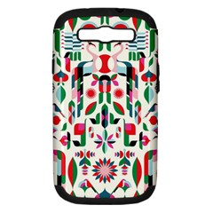 Abstract Peacock Samsung Galaxy S Iii Hardshell Case (pc+silicone)