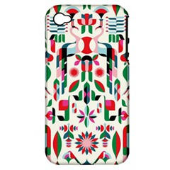 Abstract Peacock Apple iPhone 4/4S Hardshell Case (PC+Silicone)