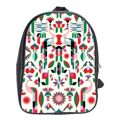 Abstract Peacock School Bags (xl)