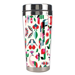 Abstract Peacock Stainless Steel Travel Tumblers