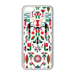Abstract Peacock Apple Iphone 5c Seamless Case (white)