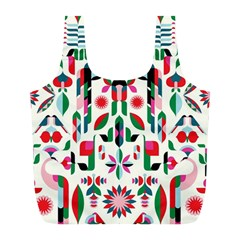 Abstract Peacock Full Print Recycle Bags (l)