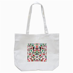 Abstract Peacock Tote Bag (white)