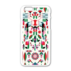 Abstract Peacock Apple Iphone 6/6s White Enamel Case