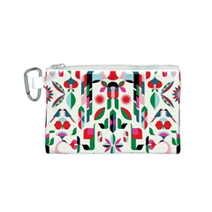 Abstract Peacock Canvas Cosmetic Bag (s)