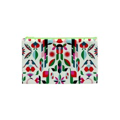 Abstract Peacock Cosmetic Bag (xs)