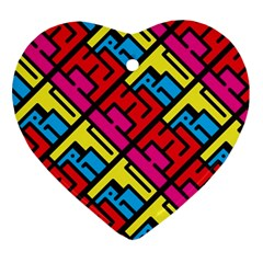 Hert Graffiti Pattern Ornament (heart)