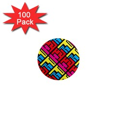 Hert Graffiti Pattern 1  Mini Magnets (100 Pack)