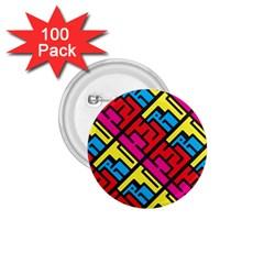 Hert Graffiti Pattern 1.75  Buttons (100 pack)
