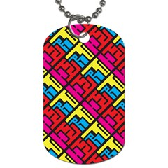 Hert Graffiti Pattern Dog Tag (two Sides)