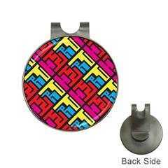 Hert Graffiti Pattern Hat Clips With Golf Markers