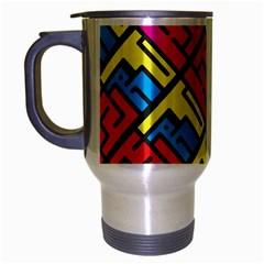 Hert Graffiti Pattern Travel Mug (silver Gray)