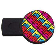Hert Graffiti Pattern Usb Flash Drive Round (4 Gb)