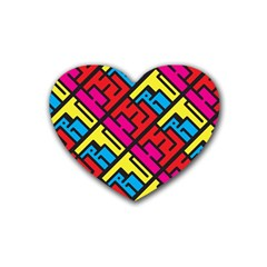 Hert Graffiti Pattern Heart Coaster (4 Pack)