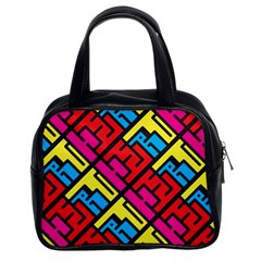 Hert Graffiti Pattern Classic Handbags (2 Sides)