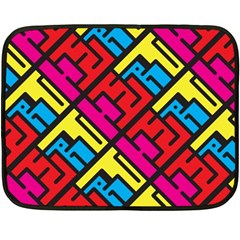 Hert Graffiti Pattern Fleece Blanket (mini)