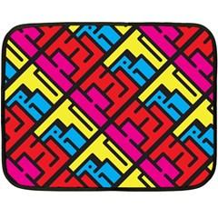 Hert Graffiti Pattern Double Sided Fleece Blanket (mini)