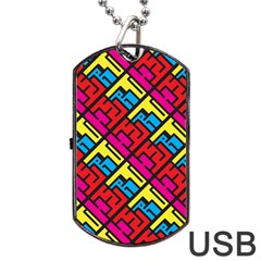 Hert Graffiti Pattern Dog Tag Usb Flash (two Sides)