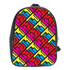 Hert Graffiti Pattern School Bags (xl)