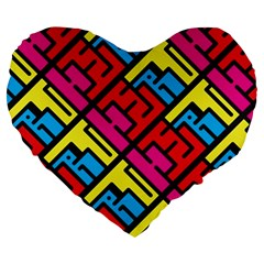 Hert Graffiti Pattern Large 19  Premium Heart Shape Cushions