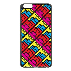 Hert Graffiti Pattern Apple Iphone 6 Plus/6s Plus Black Enamel Case