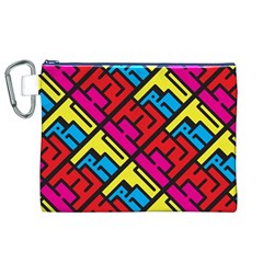 Hert Graffiti Pattern Canvas Cosmetic Bag (xl)