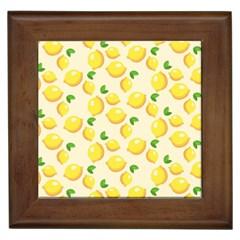 Lemons Pattern Framed Tiles