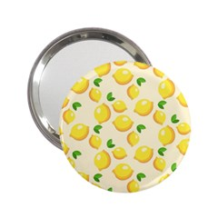 Lemons Pattern 2 25  Handbag Mirrors