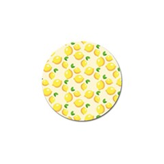 Lemons Pattern Golf Ball Marker (4 Pack)