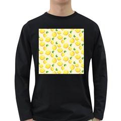 Lemons Pattern Long Sleeve Dark T-Shirts
