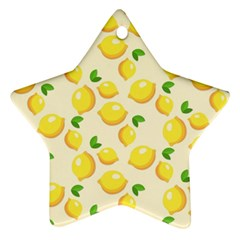Lemons Pattern Star Ornament (two Sides)