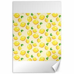 Lemons Pattern Canvas 20  X 30