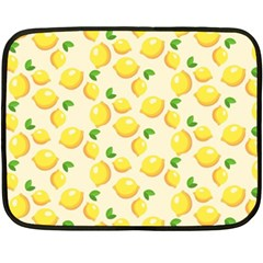 Lemons Pattern Fleece Blanket (Mini)