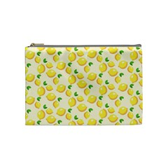 Lemons Pattern Cosmetic Bag (Medium)