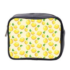 Lemons Pattern Mini Toiletries Bag 2 Side