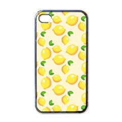 Lemons Pattern Apple iPhone 4 Case (Black)
