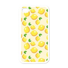 Lemons Pattern Apple Iphone 4 Case (white)
