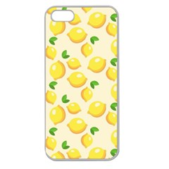Lemons Pattern Apple Seamless Iphone 5 Case (clear)