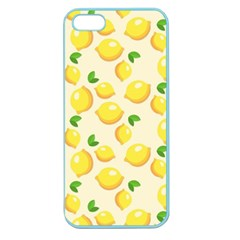 Lemons Pattern Apple Seamless Iphone 5 Case (color)