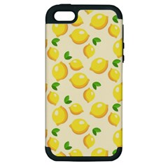 Lemons Pattern Apple Iphone 5 Hardshell Case (pc+silicone)