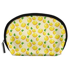 Lemons Pattern Accessory Pouches (large)