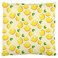 Lemons Pattern Large Flano Cushion Case (two Sides)