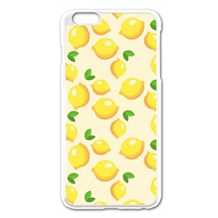 Lemons Pattern Apple Iphone 6 Plus/6s Plus Enamel White Case