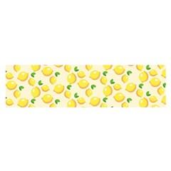 Lemons Pattern Satin Scarf (Oblong)