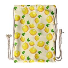 Lemons Pattern Drawstring Bag (Large)