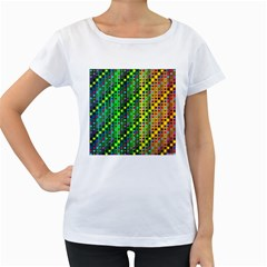 Patterns For Wallpaper Women s Loose Fit T Shirt (white)