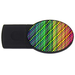 Patterns For Wallpaper USB Flash Drive Oval (4 GB)